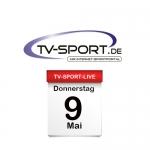 Das TV-Sport Tagesprogramm am Donnerstag, 09.05.2019