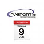 Das TV-Sport Tagesprogramm am Sonntag, 09.06.2019