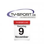Das TV-Sport Tagesprogramm am Samstag, 09.11.2019