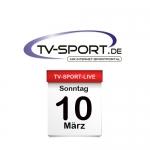Das TV-Sport Tagesprogramm am Sonntag, 10.03.2019