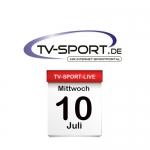 Das TV-Sport Tagesprogramm am Mittwoch, 10.07.2019