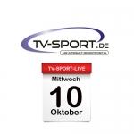 Das TV-Sport Tagesprogramm am Mittwoch, 10.10.2018