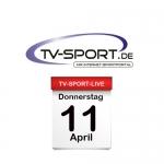 Das TV-Sport Tagesprogramm am Donnerstag, 11.04.2019
