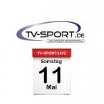 Das TV-Sport Tagesprogramm am Samstag, 11.05.2019