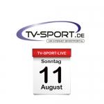 Das TV-Sport Tagesprogramm am Sonntag, 11.08.2019