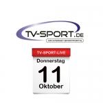 Das TV-Sport Tagesprogramm am Donnerstag, 11.10.2018