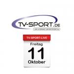 Das TV-Sport Tagesprogramm am Freitag, 11.10.2019