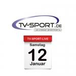Das TV-Sport Tagesprogramm am Samstag, 12.01.2019