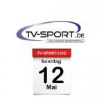 Das TV-Sport Tagesprogramm am Sonntag, 12.05.2019