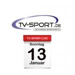 Das TV-Sport Tagesprogramm am Sonntag, 13.01.2019
