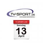 Das TV-Sport Tagesprogramm am Samstag, 13.04.2019
