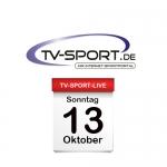 Das TV-Sport Tagesprogramm am Sonntag, 13.10.2019