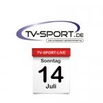 Das TV-Sport Tagesprogramm am Sonntag, 14.07.2019