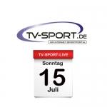 Das TV-Sport Tagesprogramm am Sonntag, 15.07.2018