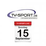 Das TV-Sport Tagesprogramm am Sonntag, 15.09.2019