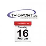 Das TV-Sport Tagesprogramm am Samstag, 16.02.2019