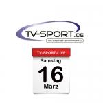 Das TV-Sport Tagesprogramm am Samstag, 16.03.2019