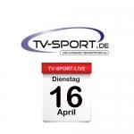 Das TV-Sport Tagesprogramm am Dienstag, 16.04.2019