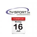 Das TV-Sport Tagesprogramm am Montag, 16.07.2018