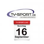 Das TV-Sport Tagesprogramm am Sonntag, 16.09.2018