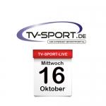 Das TV-Sport Tagesprogramm am Mittwoch, 16.10.2019