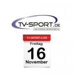 Das TV-Sport Tagesprogramm am Freitag, 16.11.2018