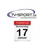 Das TV-Sport Tagesprogramm am Donnerstag, 17.01.2019