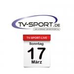 Das TV-Sport Tagesprogramm am Sonntag, 17.03.2019