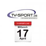 Das TV-Sport Tagesprogramm am Mittwoch, 17.04.2019