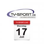 Das TV-Sport Tagesprogramm am Dienstag, 17.07.2018