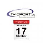 Das TV-Sport Tagesprogramm am Mittwoch, 17.10.2018