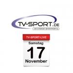 Das TV-Sport Tagesprogramm am Samstag, 17.11.2018