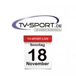 Das TV-Sport Tagesprogramm am Sonntag, 18.11.2018
