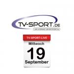 Das TV-Sport Tagesprogramm am Mittwoch, 19.09.2018