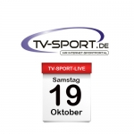 Das TV-Sport Tagesprogramm am Samstag, 19.10.2019