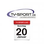 Das TV-Sport Tagesprogramm am Sonntag, 20.01.2019