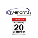 Das TV-Sport Tagesprogramm am Donnerstag, 20.09.2018