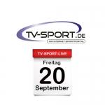 Das TV-Sport Tagesprogramm am Freitag, 20.09.2019