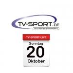 Das TV-Sport Tagesprogramm am Sonntag, 20.10.2019