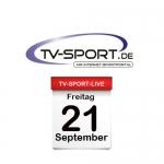 Das TV-Sport Tagesprogramm am Freitag, 21.09.2018