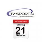 Das TV-Sport Tagesprogramm am Sonntag, 21.10.2018