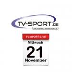 Das TV-Sport Tagesprogramm am Mittwoch, 21.11.2018