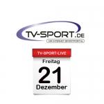 Das TV-Sport Tagesprogramm am Freitag, 21.12.2018