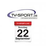 Das TV-Sport Tagesprogramm am Sonntag, 22.09.2019