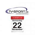 Das TV-Sport Tagesprogramm am Donnerstag, 22.11.2018