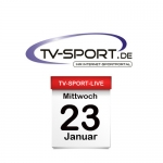 Das TV-Sport Tagesprogramm am Mittwoch, 23.01.2019