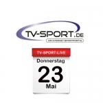 Das TV-Sport Tagesprogramm am Donnerstag, 23.05.2019