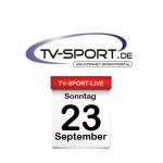 Das TV-Sport Tagesprogramm am Sonntag, 23.09.2018