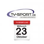 Das TV-Sport Tagesprogramm am Mittwoch, 23.10.2019