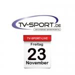 Das TV-Sport Tagesprogramm am Freitag, 23.11.2018